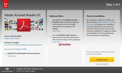 Stažení aplikace Acrobat Reader